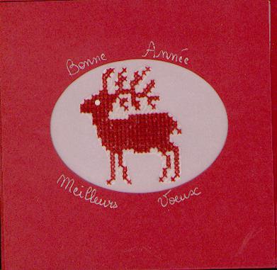 Carte de voeux Caribou