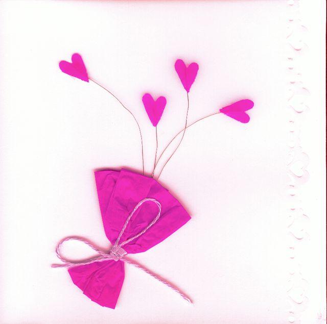 Carte pour Saint-Valentin avec coeurs