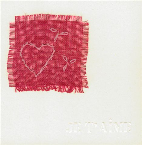 Modele de carte avec coeur amour