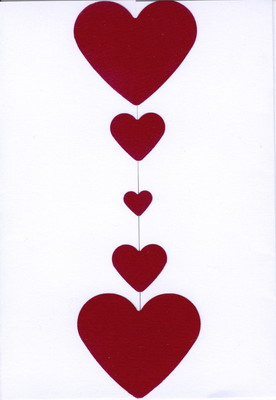 De carte en forme de coeur pour la saint valentin modèle de carte de