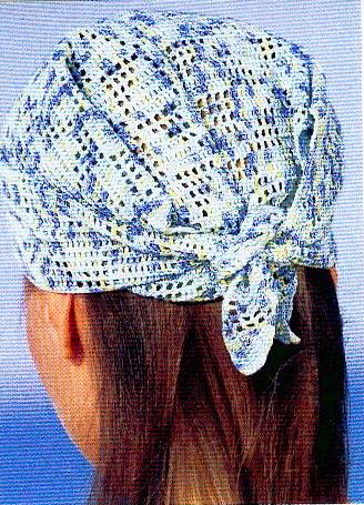 bandana au tricot crochet