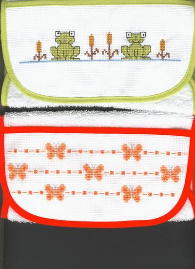 bavoir grenouille papillon bebe