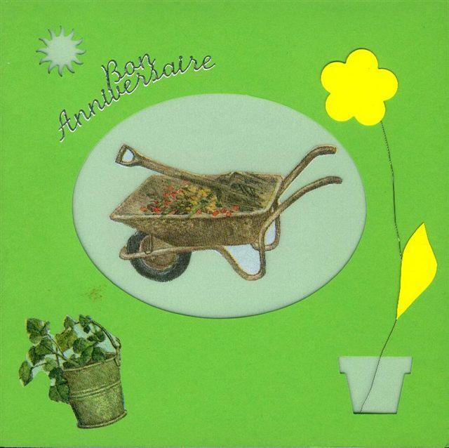 Mod le de carte anniversaire sur le th me jardinage vhd for Tout sur le jardinage