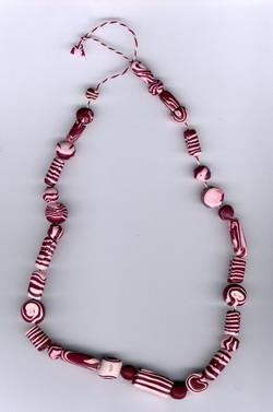 Collier en perles Fimo