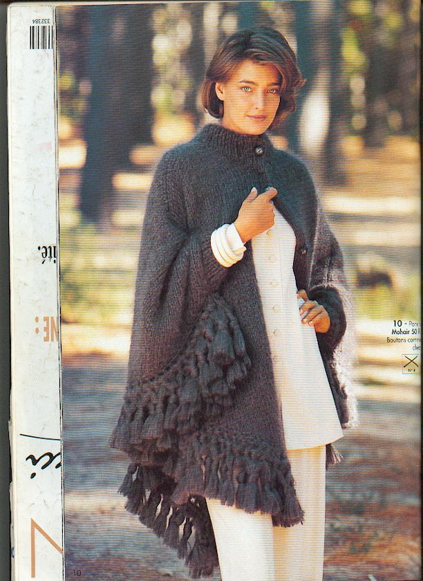 Mod le de poncho adulte au tricot vhd cr ations cartes faire part cadeaux naissance vhd - Explication pour tricoter un poncho femme ...