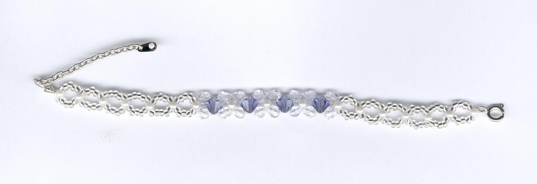 Bracelet en perles de rocaille et perles de Swarovski