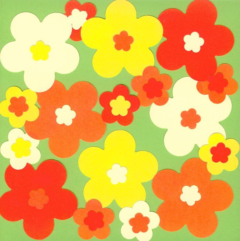 Modèle de carte verte à fleurs