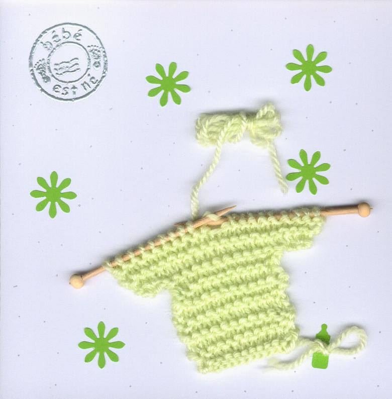 tricoter un mini pull