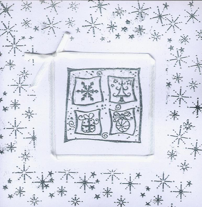 carte de Noël blanche