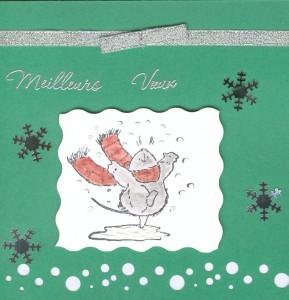 Post image for Modèle de Carte de voeux et bonne année verte avec des flocons