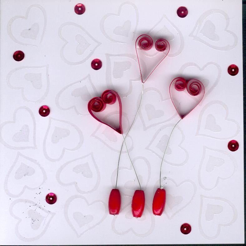 carte st valentin en quilling paperolles