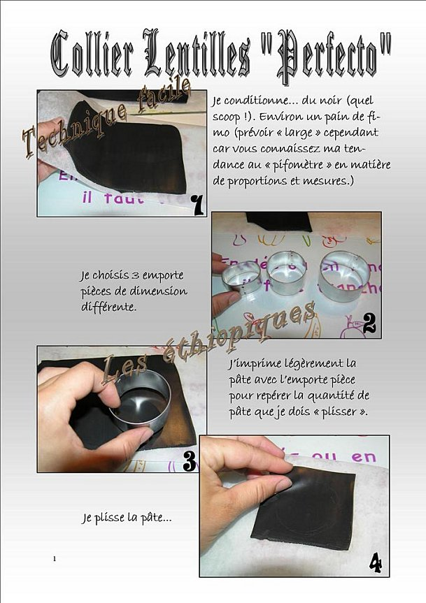 comment faire collier pate fimo