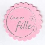 Thumbnail image for Embellissementpour cartes et faire-part : c'est une fille !