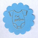 Thumbnail image for Embellissement pour faire-part :c'est un garçon
