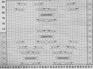diagramme exemple de torsade pour faire un pull irlandais au tricot