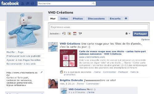 page Facebook VHDCreations
