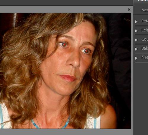 corriger les yeux rouges avec photoshop elements 9