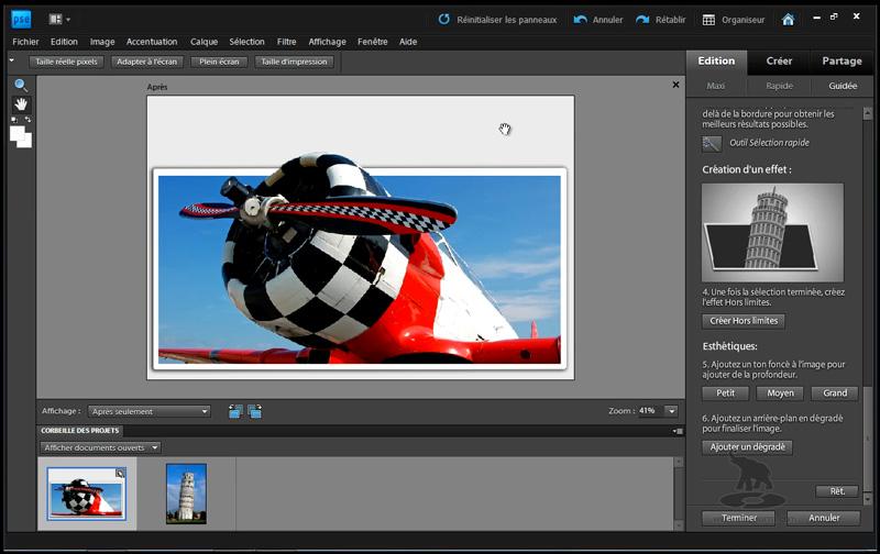 créer un effet hors limite avec Photoshop Elements 9