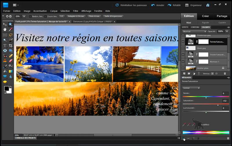faire une mise en page avec Photoshop Elements 9