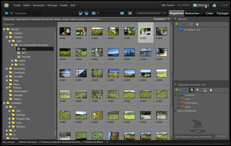 navigateur de photoshop elements 9