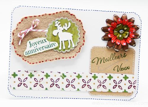 Carte d'anniversaire et de voeux en feutrine