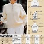 Thumbnail image for Modèle de pull cardigan raglan à tricoter