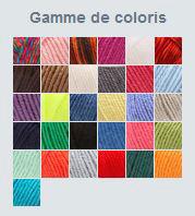 Gamme de couleurs de laine Phildar Impact
